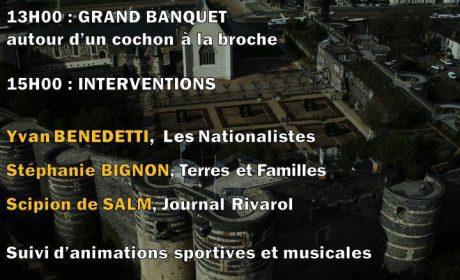 Journée nationaliste des Gaulois réfractaires en pays angevin – 31 août 2019 – Maj : le programme