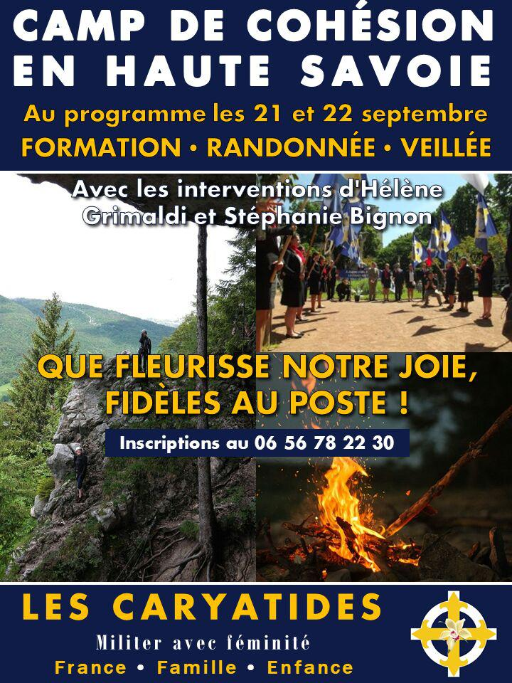 Camp de cohésion des Caryatides – 21 et 22 septembre 2019 – Haute-Savoie