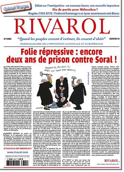Folie répressive: encore deux ans de prison contre Soral!