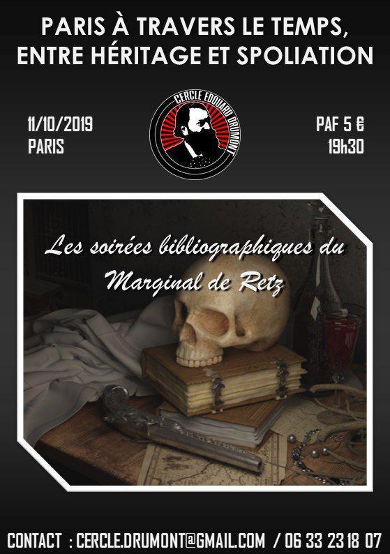 Paris à travers le temps – Cercle Drumont – 11 octobre 2019