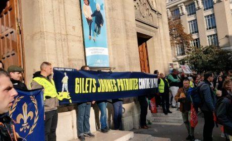 Convergence Gilets Jaunes / Manif pour Tous à la manifestation contre la P.M.A. (vidéo)