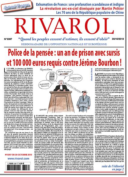 Police de la pensée : un an de prison avec sursis et 100 000 euros requis contre Jérôme Bourbon !