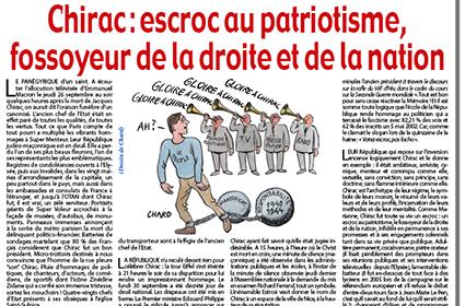 Chirac : escroc au patriotisme, fossoyeur de la droite et de la nation