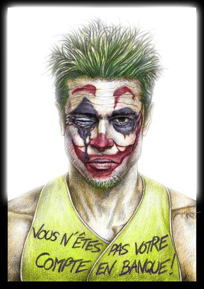 Pour les 1 an des Gilets Jaunes, Tyler «Joker» Durden s'invite à la fête – ProjetKO – Un bon dessin…