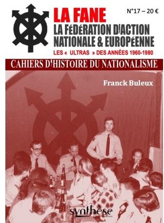 Nouveauté : Cahier d'Histoire du Nationalisme n°17 – La FANE