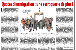 Quotas d'immigration: une escroquerie de plus!