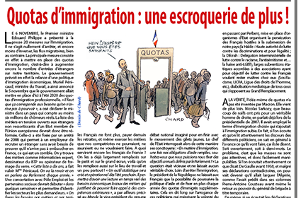 Quotas d'immigration : une escroquerie de plus !