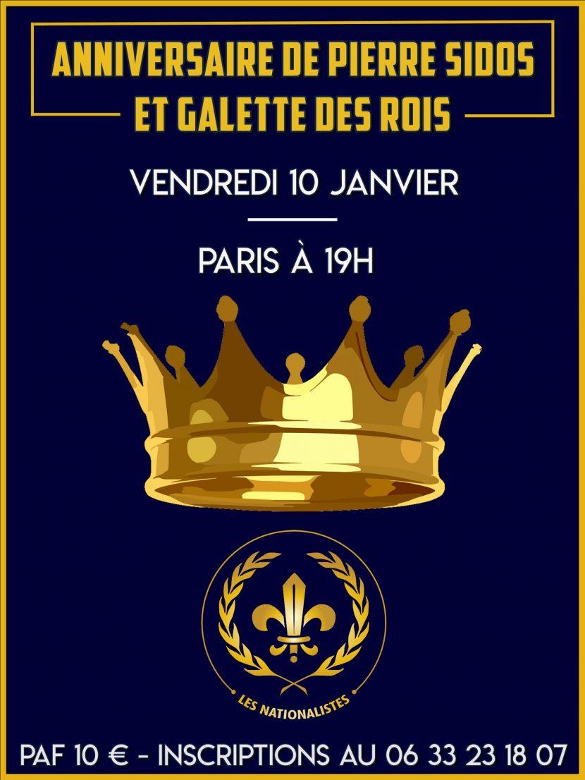 Anniversaire de Pierre Sidos et galette des rois nationaliste – Paris – Vendredi 10 janvier 2020