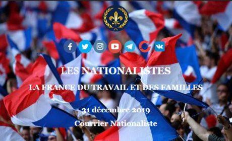 Lettre d'information « Les Nationalistes » – Abonnez-vous !