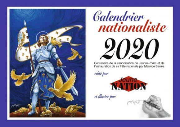 Nouveauté : le calendrier traditionnel Jeune Nation est de retour !
