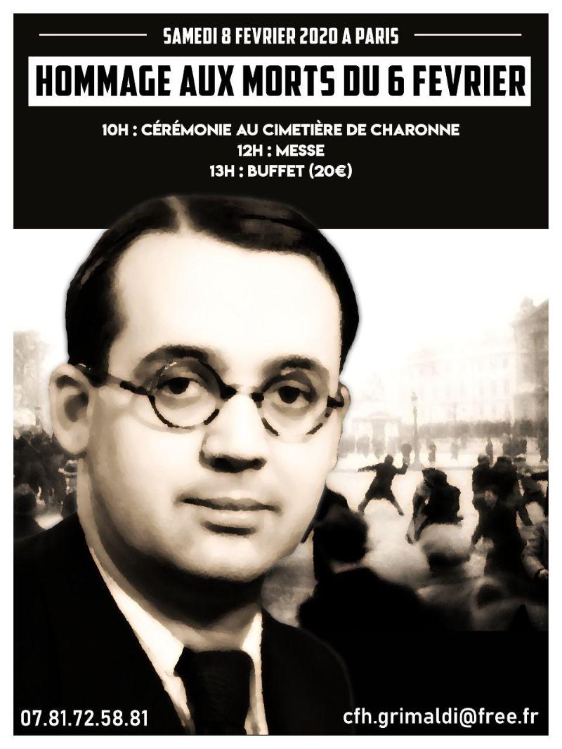 Hommage aux morts du 6 Février – Paris – Samedi 8 février 2020