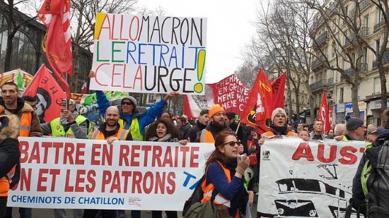 La grève en France démontre que les travailleurs doivent déporter l'oligarchie!