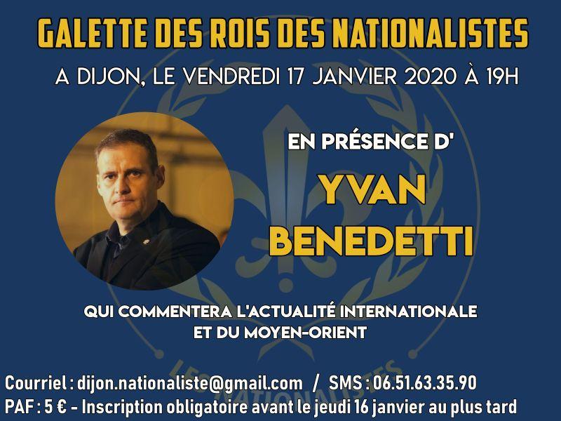 Galette des rois des Nationalistes – Dijon – Vendredi 17 janvier 2020