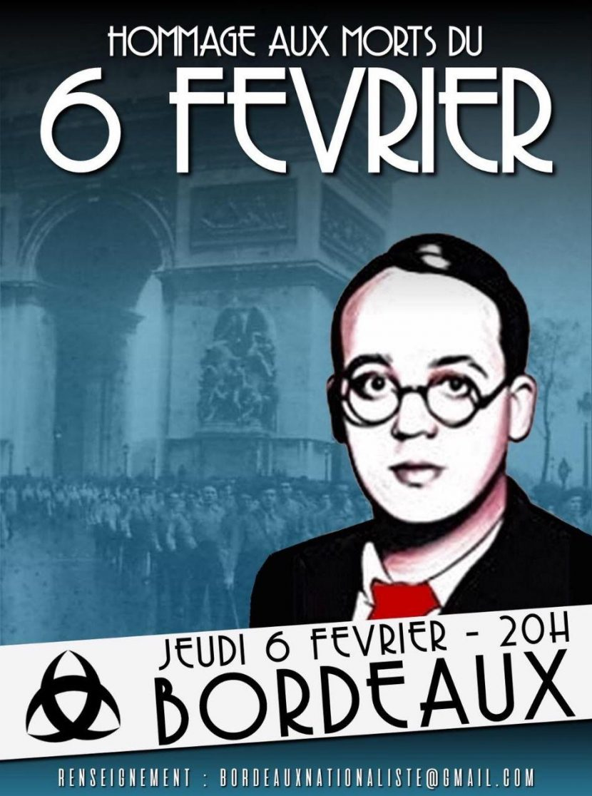 Hommage aux morts du 6 février – Bordeaux – Jeudi 6 février 2020