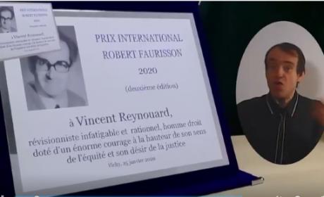 Vincent Reynouard lauréat du « Prix International Robert-Faurisson » (vidéo)