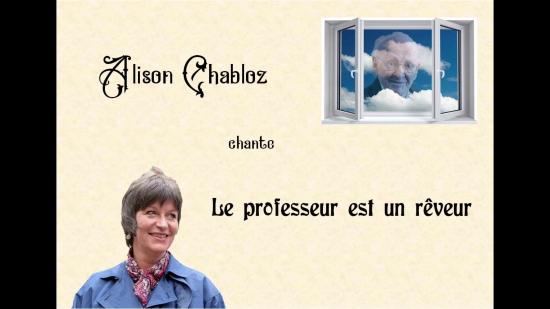 Alison Chabloz : Le professeur est un rêveur (vidéo)