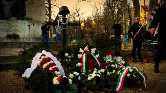 Délégation nationaliste française à Budapest pour le «Jour de l'honneur» (photos et vidéos)