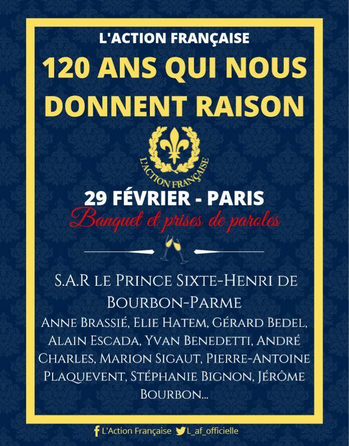 120 ans qui nous donnent raison – Avec Yvan Benedetti – Action Française – 29 février 2020 – Paris
