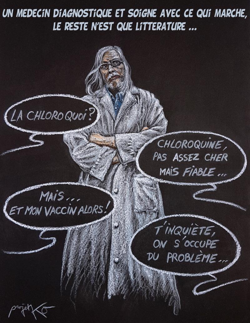 Polémique pro-anti Chloroquine – ProjetKO – Un bon dessin…