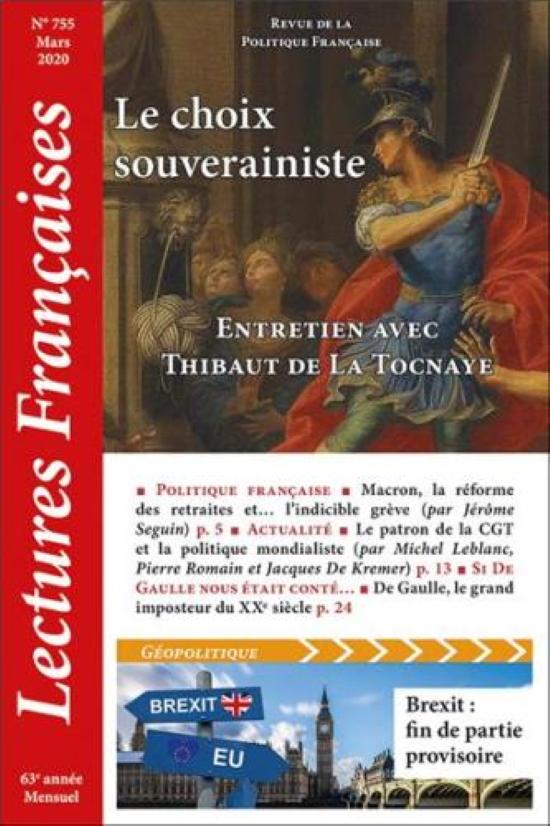 Nouveauté : Lectures Françaises – Mars 2020 : Le Choix Souverainiste