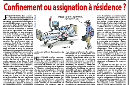 Confinement ou assignation à résidence ?