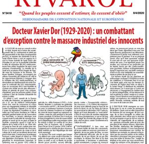 Docteur Xavier Dor (1929-2020) : un combattant  d'exception contre le massacre industriel des innocents