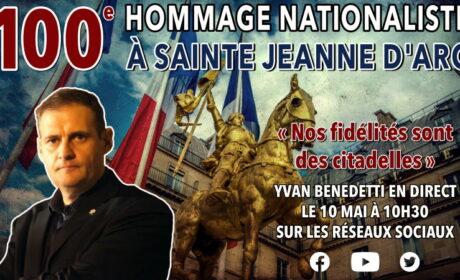 100e Hommage nationaliste à sainte Jeanne d'Arc – Direct sur les réseaux sociaux – 10 mai 2020