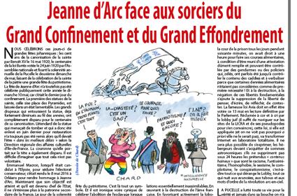 Jeanne d'Arc face aux sorciers du Grand Confinement et du Grand Effondrement