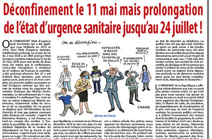 Déconfinement le 11 mai mais prolongation de l'état d'urgence sanitaire jusqu'au 24 juillet !