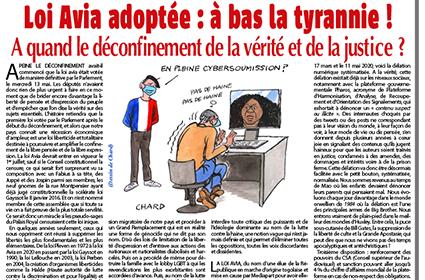 Loi Avia adoptée : à bas la tyrannie !