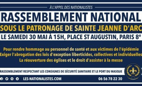 Rassemblement national sous le patronage de Jeanne d'Arc – 30 mai 2020 – Paris